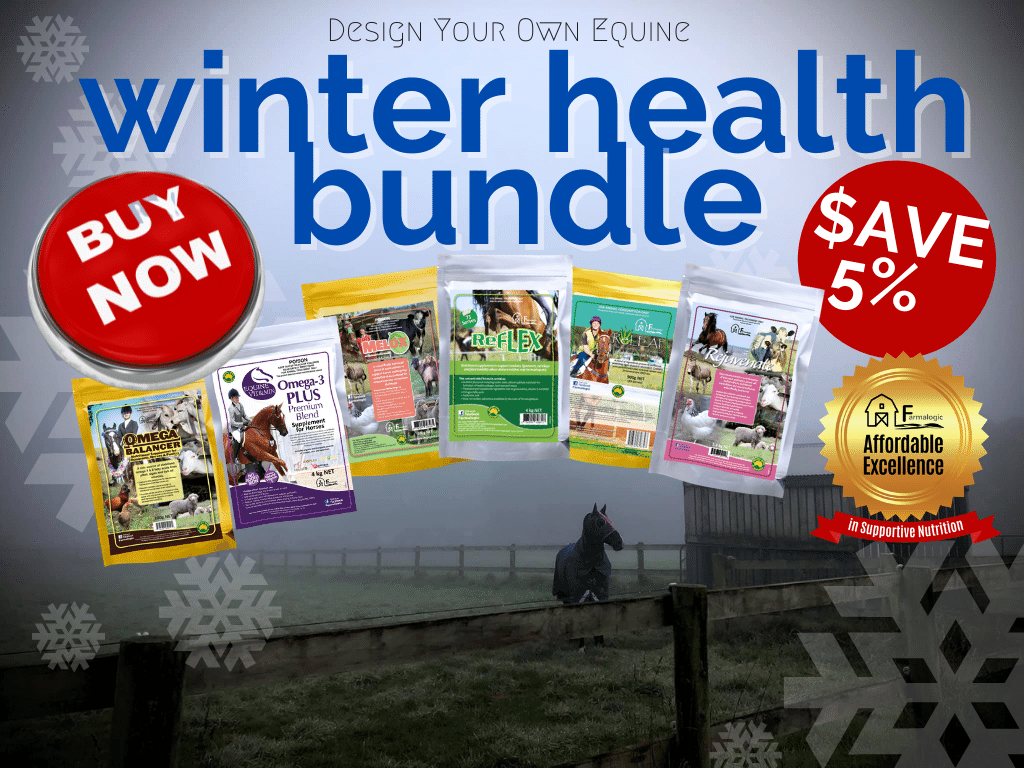 Save 5% on Farmalogic Equine supplements when you buy a winter health bundle!